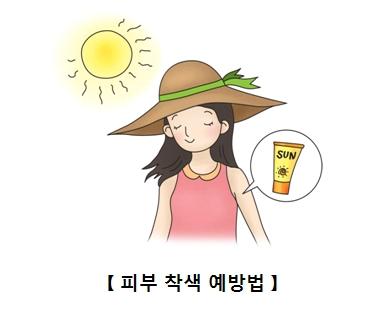 자외선 차단제를 바르고 햇빛노출에도 안심하는 여성